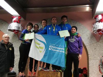 Atletas do Olímpico Vianense conquistam cinco títulos no Campeonato Regional de Estrada