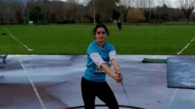 Sofia Barbosa foi prata no lançamento do martelo
